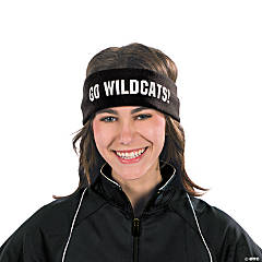 Black Personalized Headbands