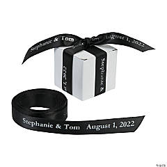 Black Personalized Ribbon - 5/8