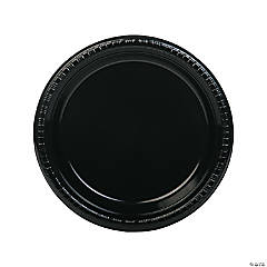 Black Plastic Dinner Plates