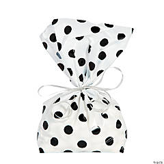 Black Polka Dot Cellophane Bags