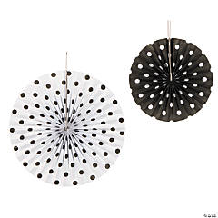 Black Polka Dot Hanging Fans