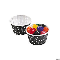 Black Polka Dot Snack Cups