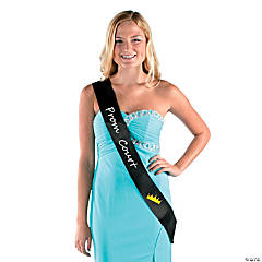 Black Prom Court Sash