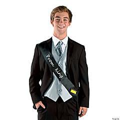 Black Prom King Sash