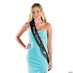 Black Prom Queen Sash