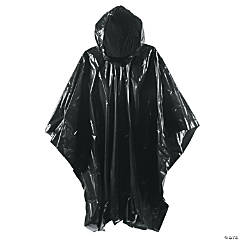 Black Rain Ponchos for Adults