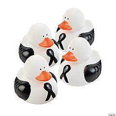 Black Ribbon Rubber Duckies