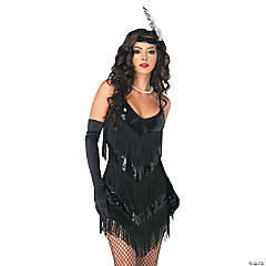 Black Roaring 20s Costume for Women