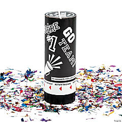 Black School Spirit Party Poppers