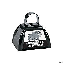Black Team Spirit Custom Photo Cowbells