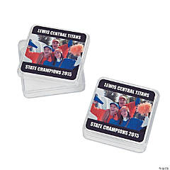 Black Team Spirit Custom Photo Square Containers