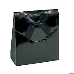 Black Tented Favor Boxes
