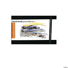 Black Travelogue Drawing Journal - Landscape