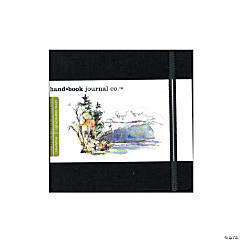 Black Travelogue Drawing Journal - Square