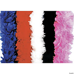 Black Turkey Feather Deluxe Boa