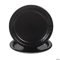 Black Velvet Paper Dinner Plates