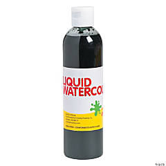 Black Washable Liquid Watercolor Paint