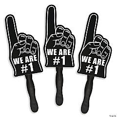 Black We're #1 Finger Hand Fans
