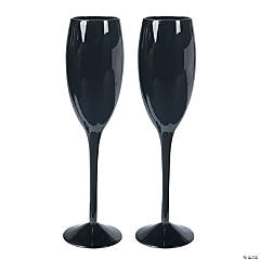 Black Wedding Flutes