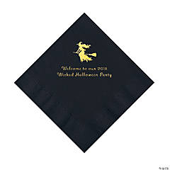 Black Witch Personalized Napkins with Gold Foil – Luncheon
