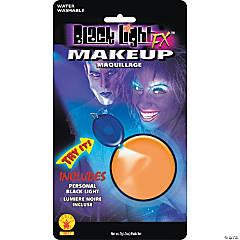 Blacklight Makeup - Orange Glow