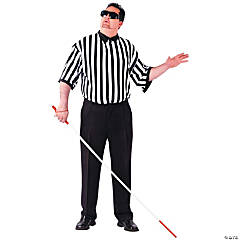 Blind Referee Plus Size Adult Men's Costume