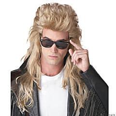 Blonde 80's Rock Mullet Wig