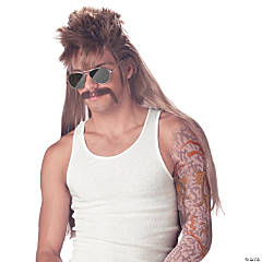 Blonde Mississippi Mudflap Mullet Wig