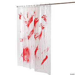 Bloody Shower Curtain Halloween Décor