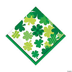 Blooming Shamrocks Luncheon Napkins