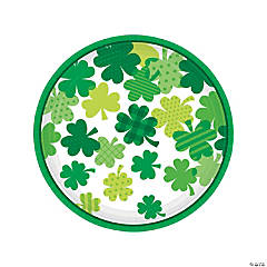 Blooming Shamrocks Paper Dinner Plates