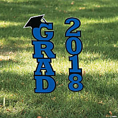 Blue 2018 Grad Yard Sign