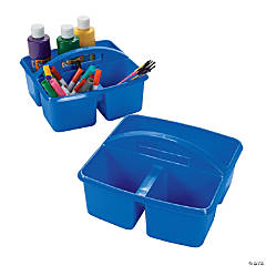 Blue 3-Compartment Storage Caddies