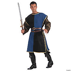 Blue & Black Mideval Tabard for Men