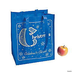 Blue & Gold Nativity Tote Bags