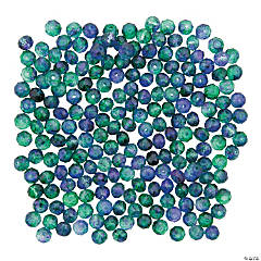 Blue & Green Prism Beads