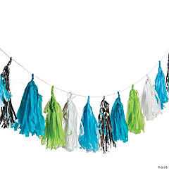 Blue & Green Tassel Garland
