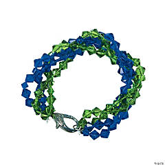 Blue & Green Twist Bracelet Idea