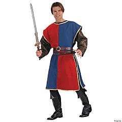 Blue & Red Medieval Tabard for Adults