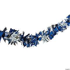 Blue & Silver Snowflake Garland