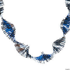 Blue & Silver Winter Fringe Garland