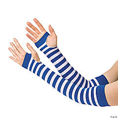 Blue & White Team Spirit Arm Sleeves