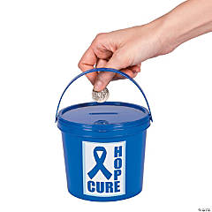 Blue Awareness Ribbon Donation Buckets