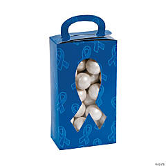 Blue Awareness Ribbon Favor Boxes with Cutout