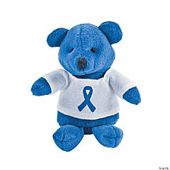 Blue Awareness Ribbon Stuffed Bears