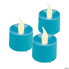 Blue Battery-Operated Votive Candles