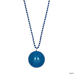 Blue Beaded Light-Up Necklaces