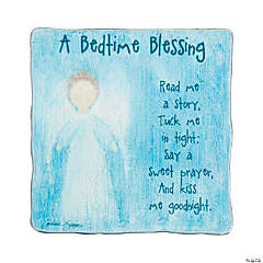 Blue Bedtime Blessing Plaque
