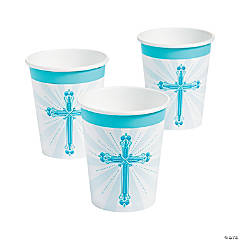 Blue Blessings Paper Cups