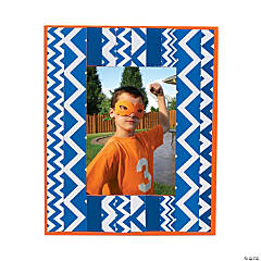 Blue Chevron Frame Idea
